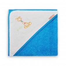 Badcape Turtquoise-Wit met Giraf_